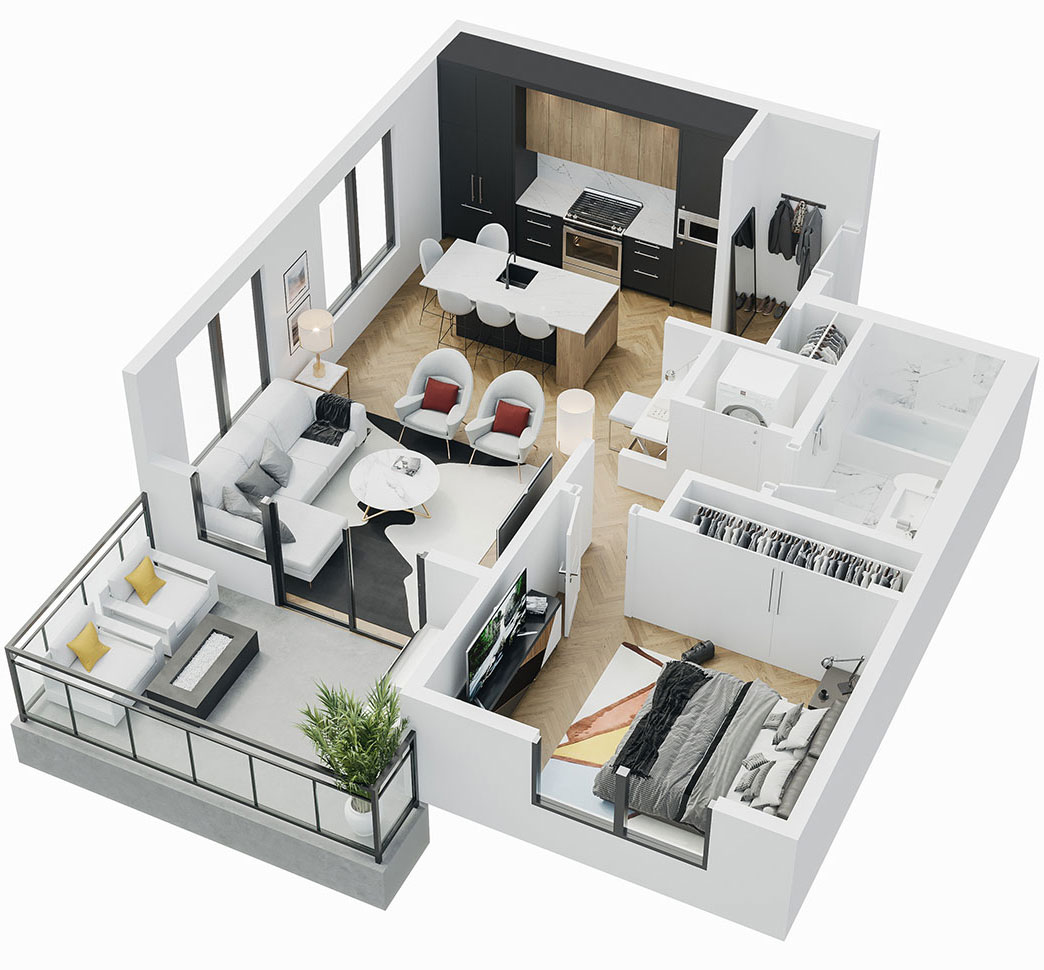 Esquire - 3D Floor Plan - A1