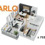 Esquire - Floor Plan - A1 Arlo