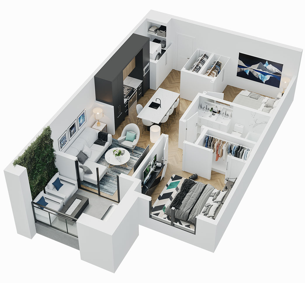 Esquire - 3D Floor Plan - A3