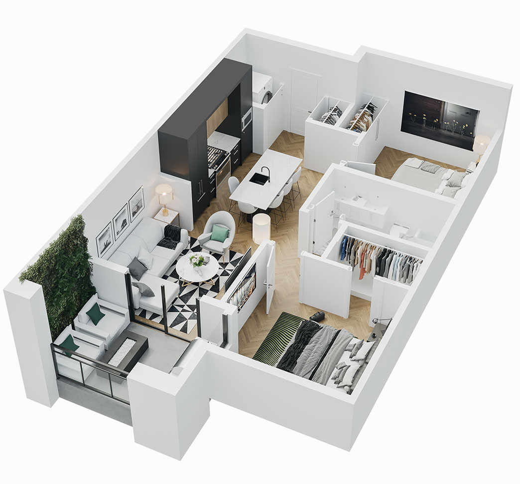 Esquire - 3D Floor Plan - A9