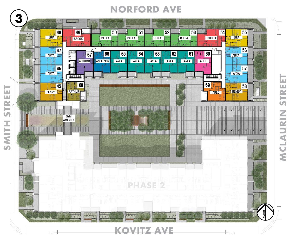 Esquire - Site Plan - Floor 3