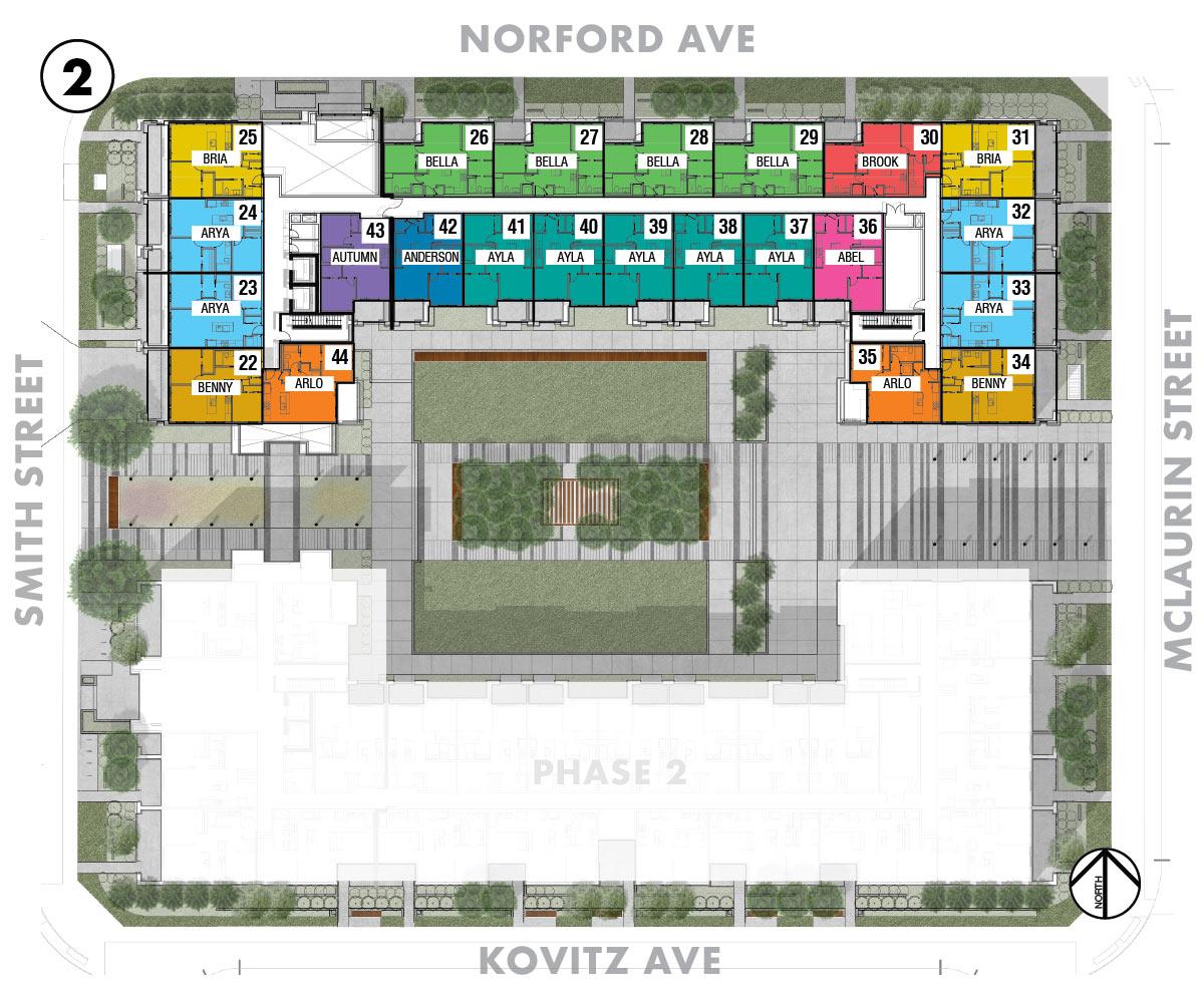 Esquire - Site Plan - Floor 2