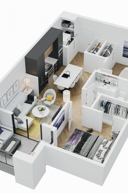 Esquire - 3D Floor Plan - A4