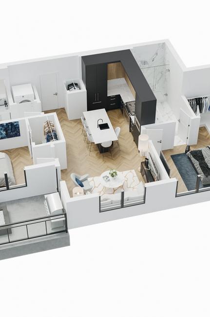 Esquire - 3D Floor Plan - B3