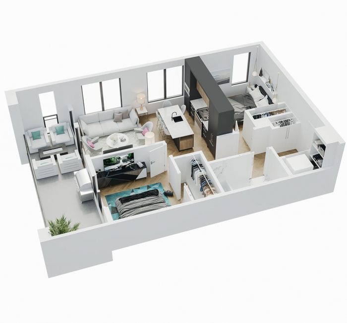 Esquire - 3D Floor Plan - B4
